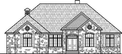 Stone Cottage Ranch House Floor Plans With 2 Car Garage