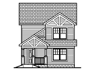 Tiny Affordable House Plans 1500 SF 2 Story 3 bedroom 2 Bath Chicago Peoria Springfield Illinois Rockford Champaign Bloomington Illinois Aurora Joliet Naperville Illinois Elgin Waukegan