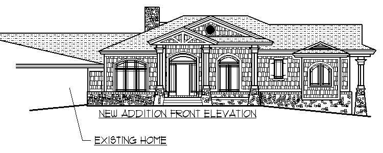 1950 home remodeling addition craftsman front porch for Easy house plans to draw